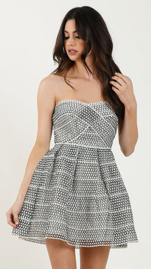 Delilah Mesh Tube Dress