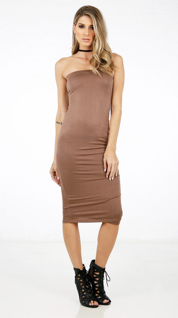 Solid Basic Tube Dress