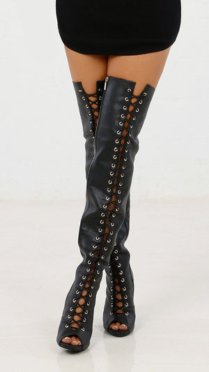 Lace Up Over-the-Knee Boot