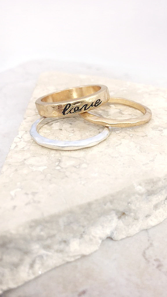 Simple Band Ring Set