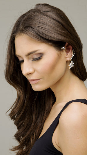 Rhinestone Holiday Ear Cuff