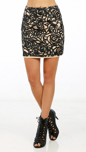 Abstract Patterned Mini Skirt - ANGL
