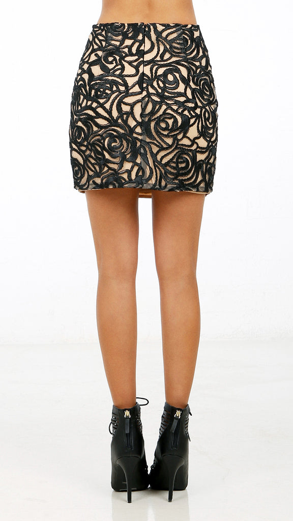 Abstract Patterned Mini Skirt ANGL Extraordinary Patterned Mini Skirt