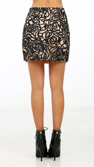Abstract Patterned Mini Skirt