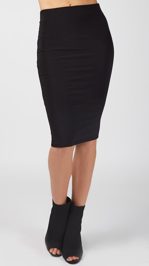 Basic Dressy Fitted Pencil Skirt - Msky