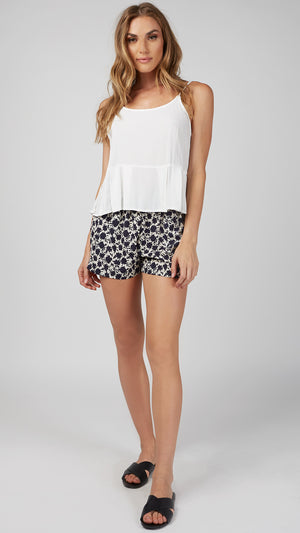 Floral Silhouette Flowy Shorts - ANGL