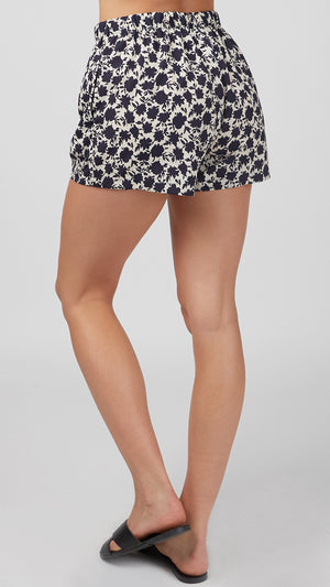 Floral Silhouette Flowy Shorts