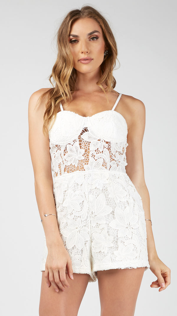 Floral Lacey Sexy Romper - Msky