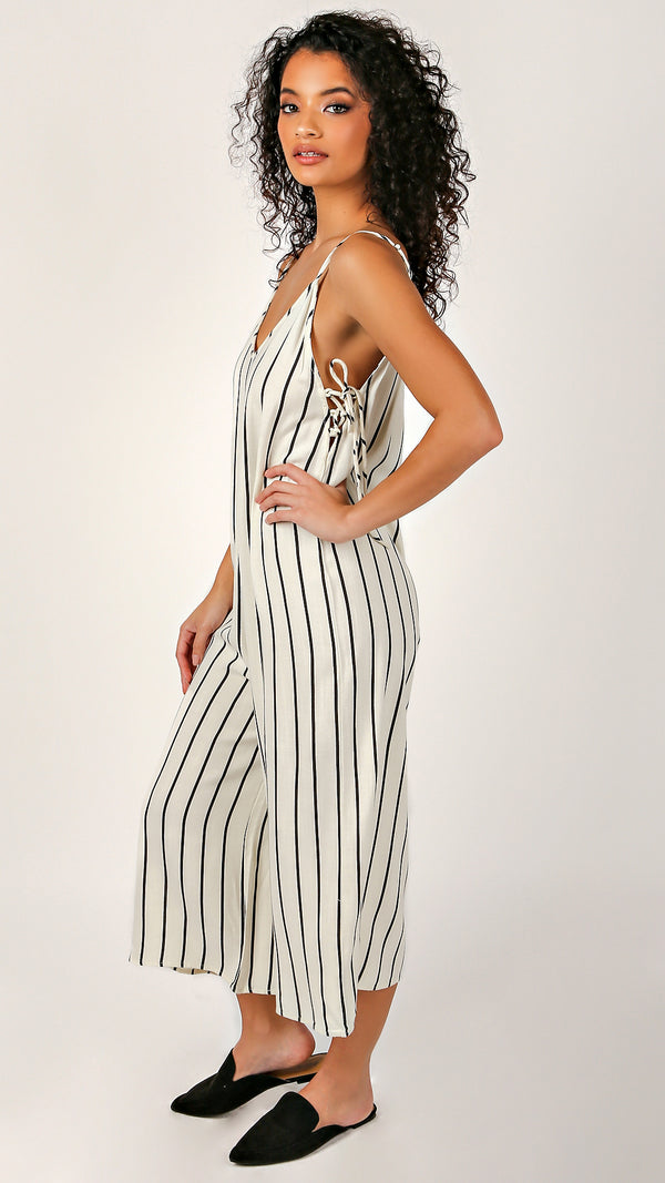 Emily Sleeveless Long Romper - Msky