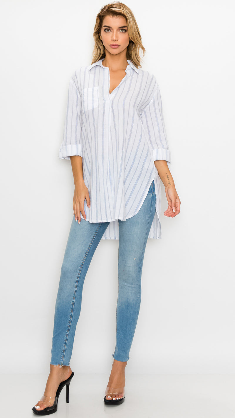 Ali Striped Tunic Top - Msky