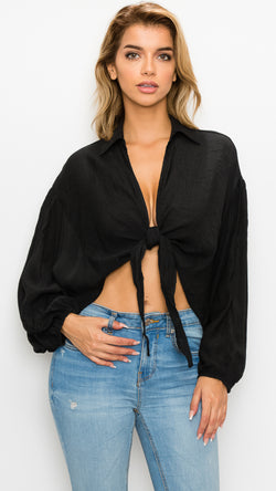 Easton Tie Front Top - Msky