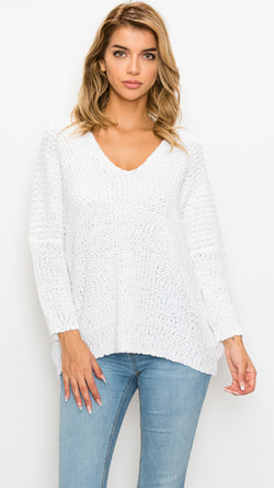 Bubble Knit Oversized Sweater - Msky