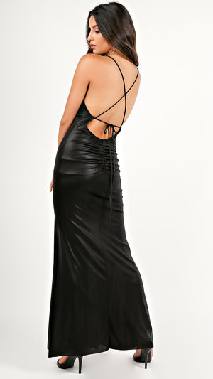 Glam Strappy Back Maxi Dress...
