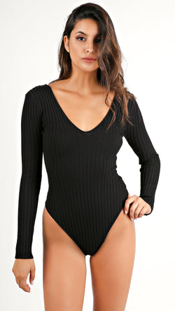 Ribbed Long Sleeve Bodysuit...