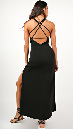 Siren Goddess Cutout Maxi Dress
