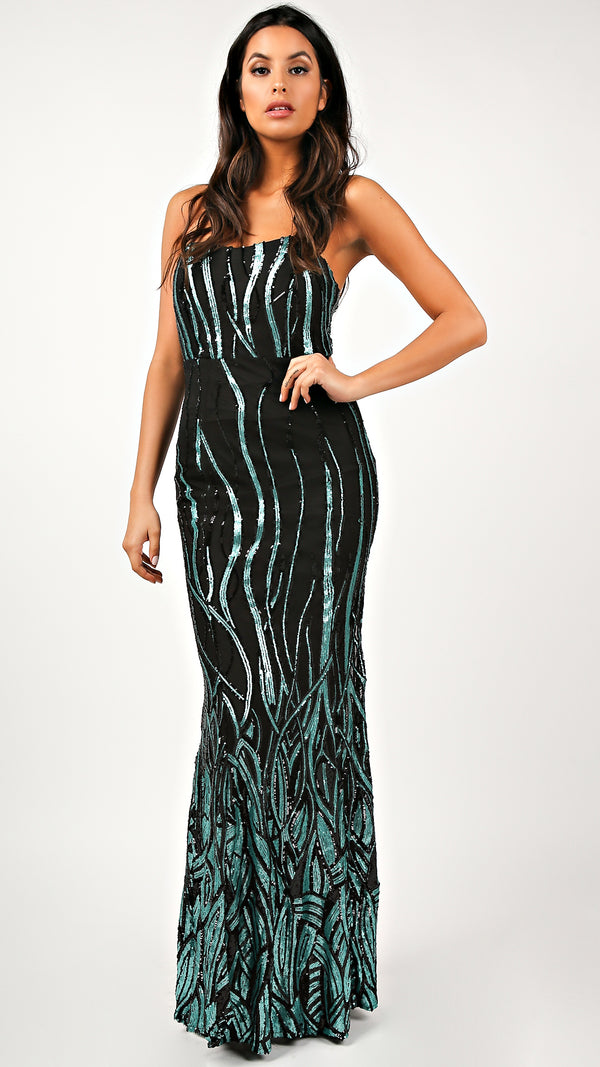 Ariel Sequin Maxi Dress - Msky