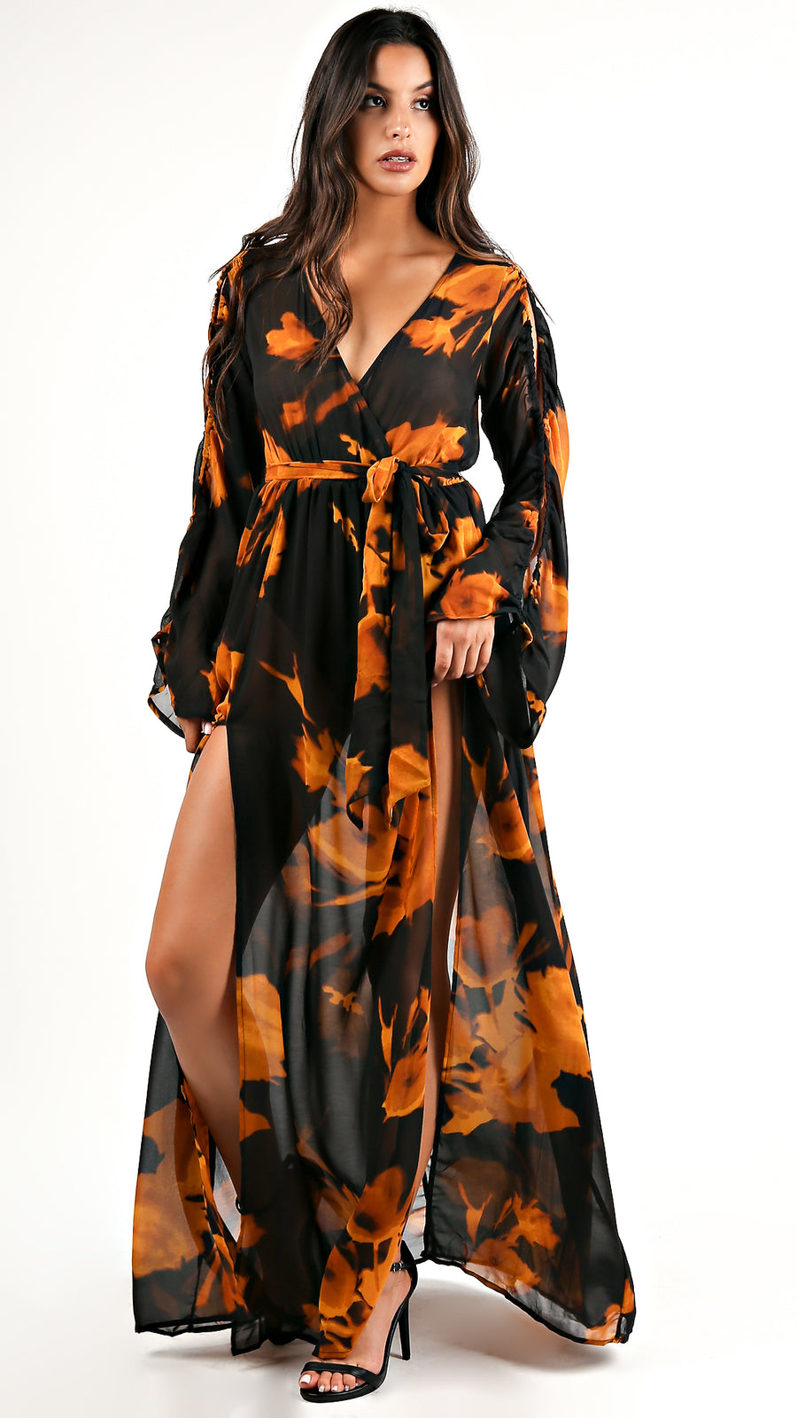 Golden Eye Floral Maxi Dress