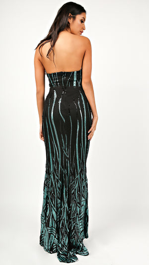 Ariel Sequin Maxi Dress