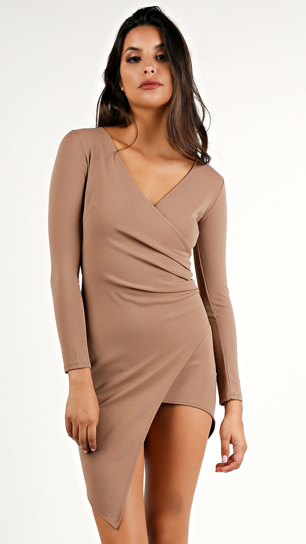 Asymmetrical Long Sleeve Dress... - Msky