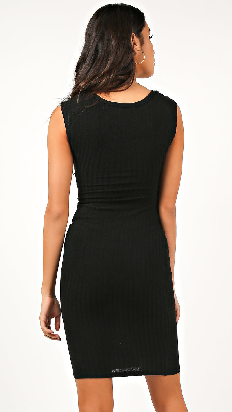 Ribbed Basic Tank Dress
