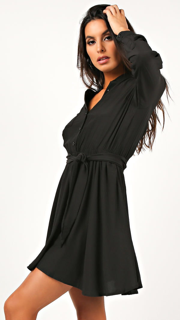 Button Down Shirt Dress - Msky