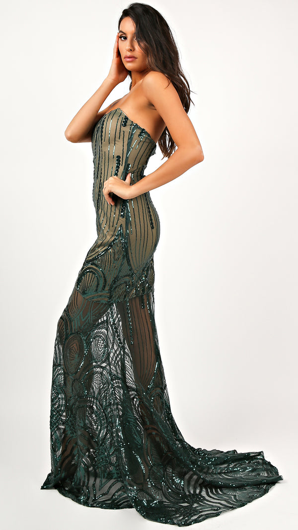 Jade Sequin Maxi Dress