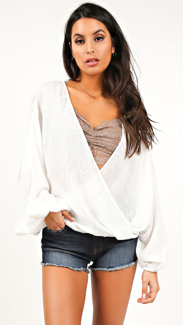 Breezy Long Sleeve Wrap Top
