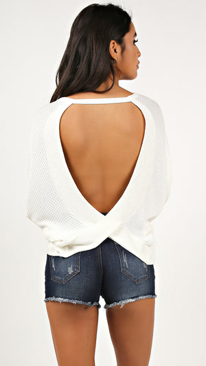 Open Surplice Back Top