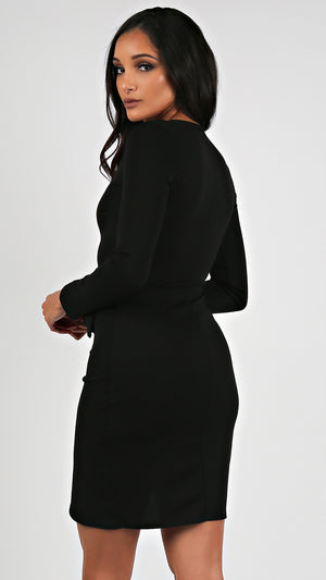 Autumn Tie Long Sleeve Dress...