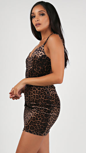 Leopard Multi Strap Bodycon...