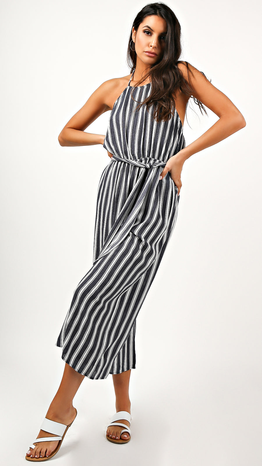Bailey Striped Halter Jumpsuit