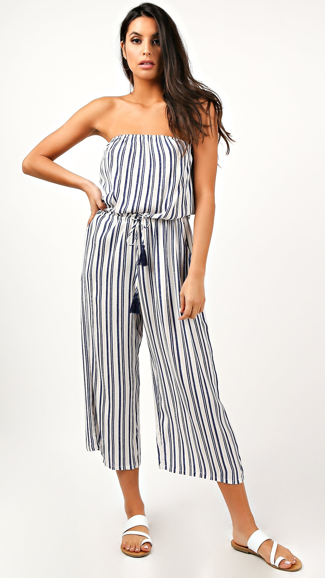 select for clearance harmonious colors 50% price Mallory Striped Jumpsuit