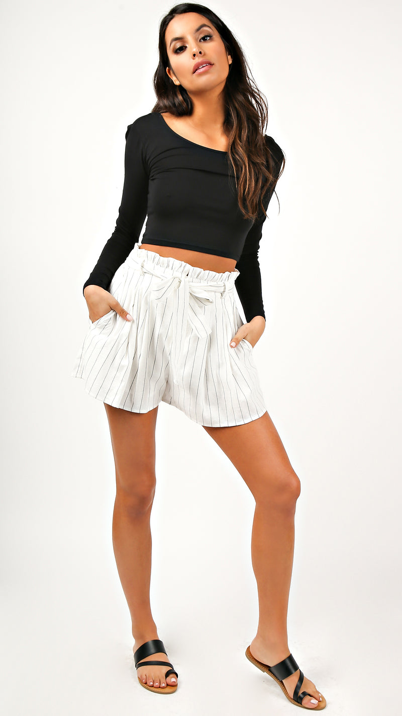 Clean Lines High Waisted Shorts - Msky
