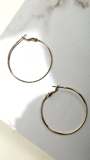 Simple Round Thin Hoops...