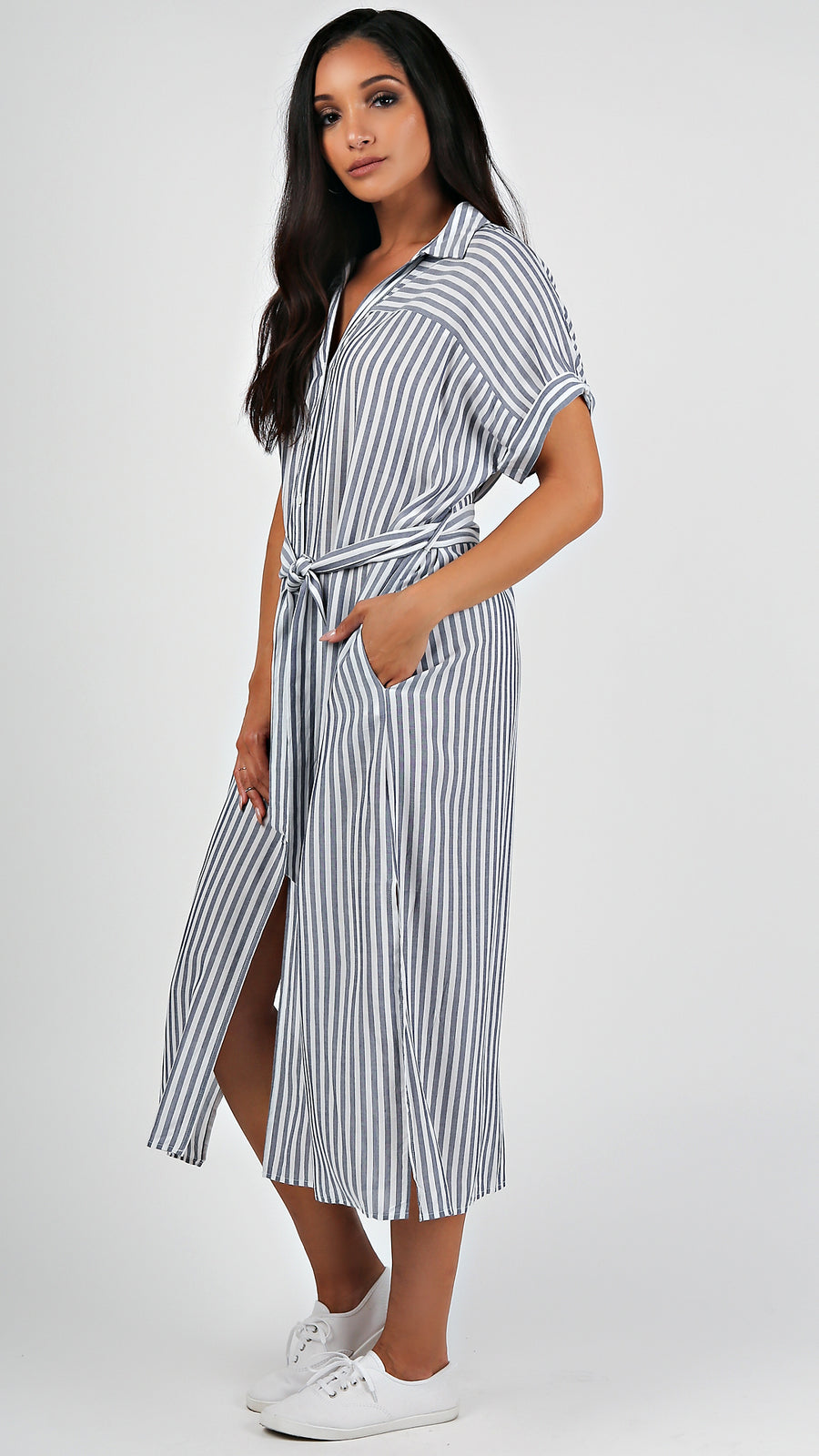 Striped T- Shirt Maxi Dress...
