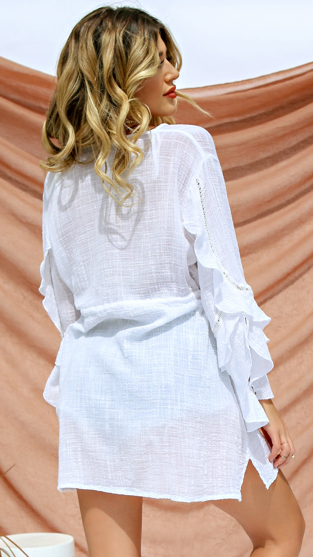 Sandy Long Sleeve Cover Up
