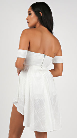 Mini High Low Off Shoulder Romper...
