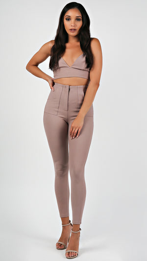 Olivia Crop Top And Pants Set...