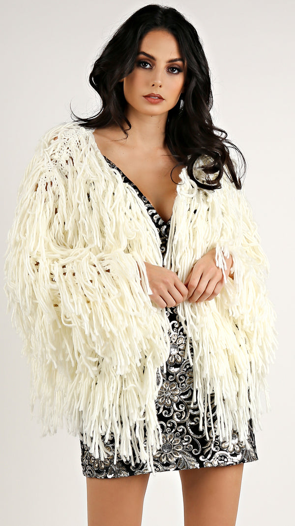 Thick Yarn Shag Coat...