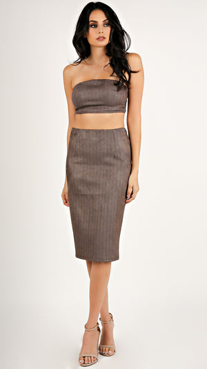 Chevy Suede Pencil Skirt...