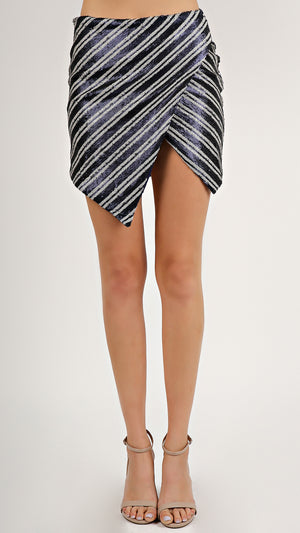 Stripe Sequin Skirt...