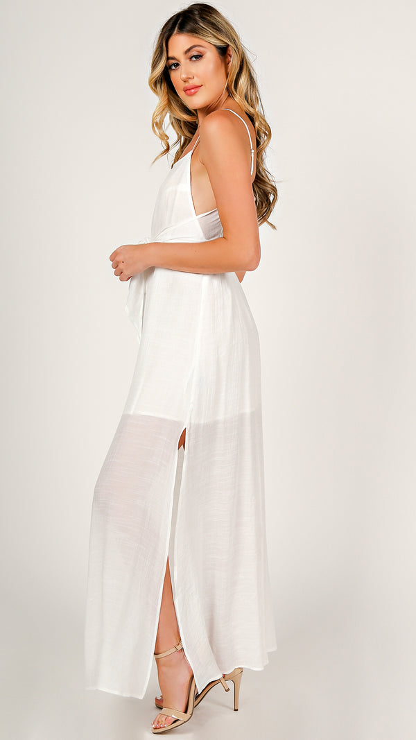Lisa Front Tie Maxi Dress