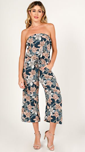Lily Floral Tube Jumpsuit