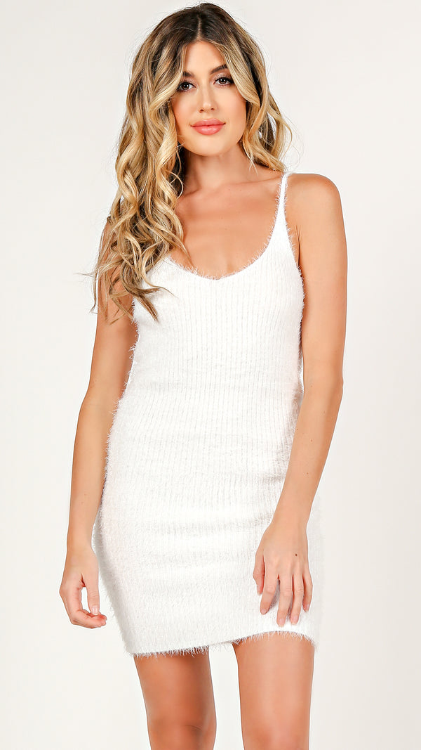 Fuzzy Bodycon Dress