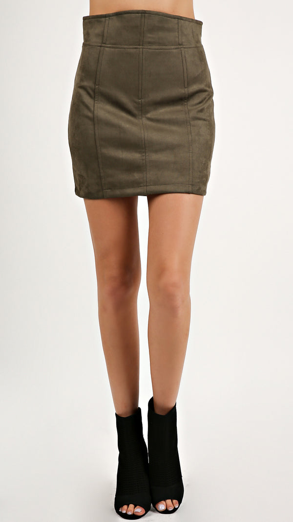 Faux Suede Skirt... - Msky