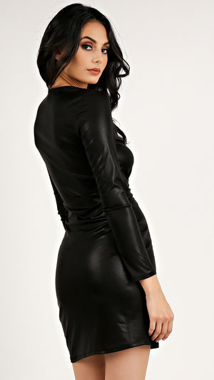 Front Twist Shimmy Mini Dress...