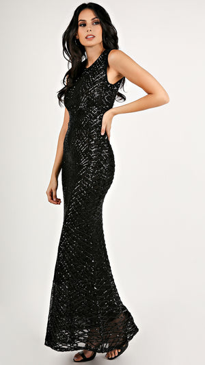 Midnight Sequin Maxi Dress...