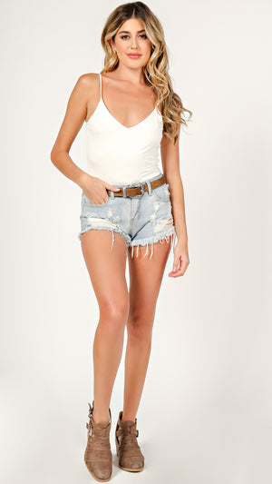 Basic V-Neck Cami Bodysuit - ANGL