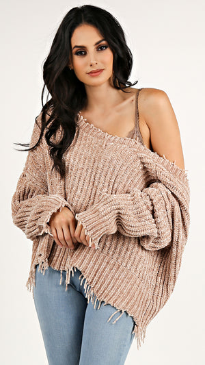 Knit Velvety Crop Sweater...