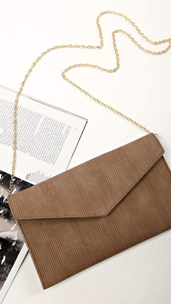 Ribbed Envelope Clutch
